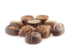 Set av choklader Fotografering för Bildbyråer