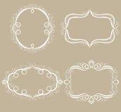 Set av dekorativa ramar. Royaltyfria Foton
