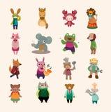 Set av den djura symbolen Royaltyfri Foto