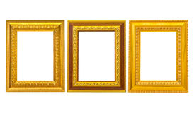 Set av den guld- tappningramen arkivfoto