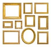 Set av den guld- tappningramen Fotografering för Bildbyråer