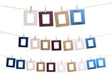 Set av den hängande fotoramen Royaltyfri Bild