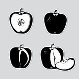 Set av det dekorativa äpplet Arkivbild
