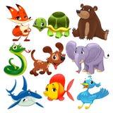 Set av djur. Royaltyfri Foto