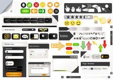 Set av element för rengöringsdukdesign Stock Illustrationer