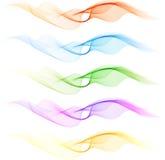 Set av färgblandningwaven Arkivfoton