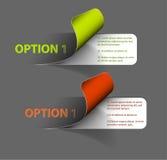 Set av färgrika etiketter för vektorprövkopiaalternativ royaltyfri illustrationer