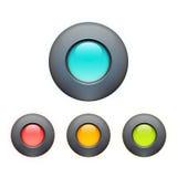 Set av färgrika knappar Arkivfoton