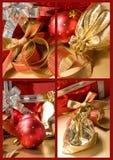Set av för jul lifes fortfarande Arkivfoton