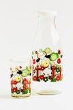Set av flaskans-koppen för att dricka för vatten. Royaltyfria Bilder