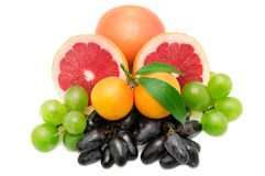 Set av frukter och bär royaltyfri foto