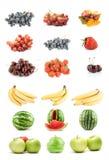 Set av frukter och grönsaker Arkivfoto