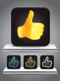 Set av fyrkantiga symboler med bäst choice tecken Royaltyfri Bild