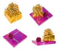 Set av gåvaaskar Royaltyfria Bilder
