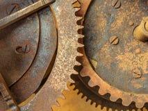 Set av gammala rostade kugghjul Royaltyfria Foton