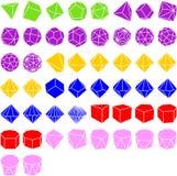 Set av geometriska heltäckande stock illustrationer