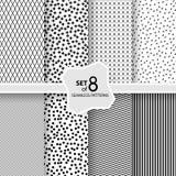 Set av geometriska seamless modeller Royaltyfri Foto