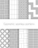 Set av geometriska seamless modeller Arkivfoton