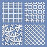 Set av geometriska seamless modeller Royaltyfri Bild