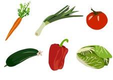Set av grönsaker Arkivbild