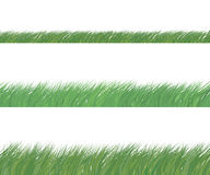 Set av grönt gräs vektor illustrationer