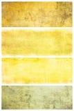 Set av grungebakgrunder med avstånd för text Royaltyfri Foto