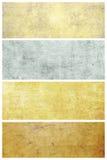 Set av grungebakgrunder med avstånd för text Royaltyfri Fotografi