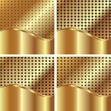 Set av guldbakgrunder 4 royaltyfri illustrationer
