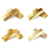Set av guldstänger också vektor för coreldrawillustration Royaltyfri Bild