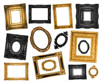 Set av härliga dekorativa ramar Arkivbilder