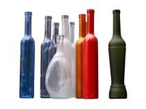 Set av härliga flaskor utan etikett Royaltyfri Bild