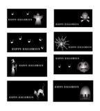 Set av halloween kort Royaltyfria Bilder