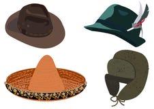 Set av hattar Fotografering för Bildbyråer