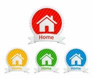 Set av home symboler och etiketter Royaltyfri Foto