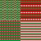 Set av julbakgrunder Arkivfoto