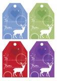 Set av julgåvaetiketter Arkivfoton