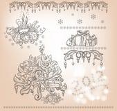Set av julobjekt Arkivbild