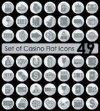 Set av kasinosymboler Royaltyfria Bilder