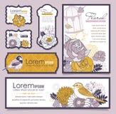 Set av kortdesignen Fotografering för Bildbyråer