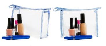 Set av kosmetiska produkter Royaltyfria Bilder