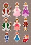 Set av kungliga folksyickers Royaltyfri Fotografi