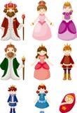 Set av kungligt folk Royaltyfria Bilder