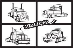 Set av lastbilar Arkivfoton