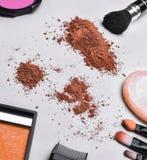 Set av makeup arkivfoto
