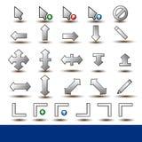 Set av markören Ic för pekare för mus 26 Arkivbild