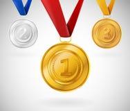 Set av medaljer Royaltyfri Fotografi