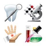 Set av medicinska symboler Fotografering för Bildbyråer