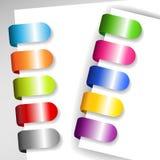 Set av metalliska paper etiketter Arkivbilder