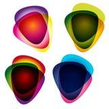 Set av multicolor hackor. stock illustrationer