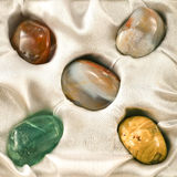 Set av olika gemstones Arkivfoto